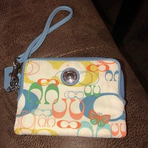 Coach butterfly small wallet